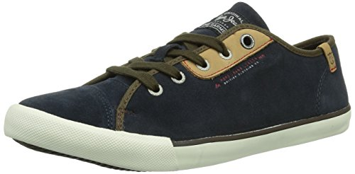Pepe Jeans London BRITT BLUCHER, Sneaker Uomo Blu (Blau (MARINE 585))