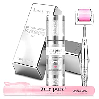 âme pure® CIT Face Derma Roller PLATINUM KIT Triple Dose Clinically Proven Anti Pimple and Acne Scarring Microneedling Treatment (Dermaroller + Gel + Disinfectant)