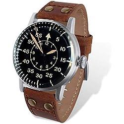 Aviador Con Acero 1 Quirúrgico Reloj Ala 12 De Av Caja 1060 Rbf QCBeWordx