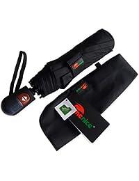 Umenice Paraguas Automático de Viaje. Color Negro, con 9 varillas y tela con recubrimiento de Teflón T210