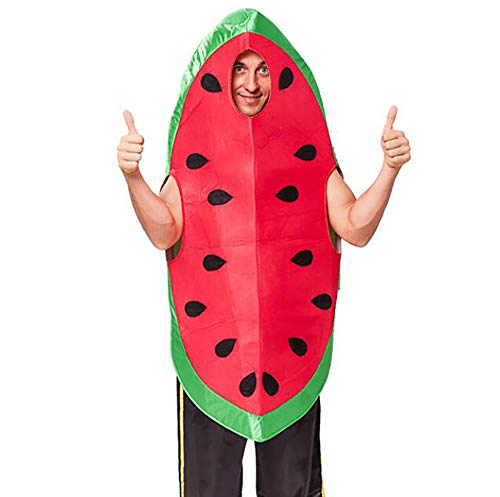 SHANGLY Männer Wassermelone Cosplay Kostüm Für Halloween-Weihnachten Karneval Kühne Dress Up Party