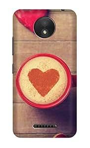ZAPCASE Printed Back Cover for Motorola Moto C Plus