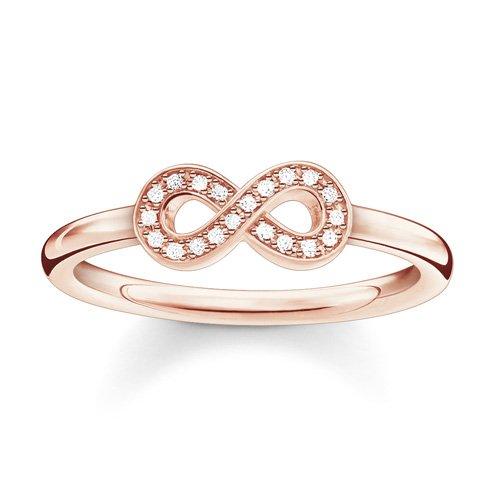 Thomas Sabo Damen-Ring Glam & Soul 925 Silber Diamant (0.05 ct) weiß Gr. 52 (16.6) - D_TR0001-923-14-52