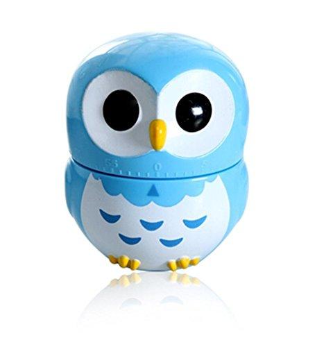 Wer Kikkerland Eule Timer Küche Eule Owlet 60Minute Kochen Mechanische blau (Kikkerland-timer)