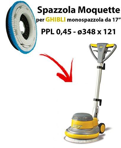 Spazzola moquette per monospazzola ghibli ergoline da 17 pollici (sb143)