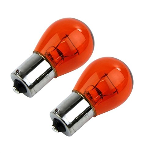 Pair-of-12v-21w-W21W-343-Amber-Straight-Pins-Indicator-Car-Bulbs-Long-Life
