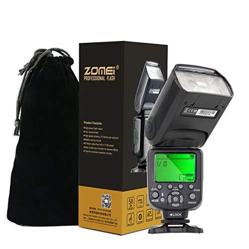 Zomei-ZM560T-professionale-Flashlight-Flash-ad-alta-velocit-esterno-auto-FlashLite-con-E-TTL-Wireless-S1-e-S2-per-Canon-Nero