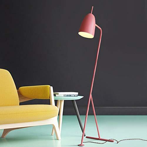 Lampadaires- Macarons vintage lampe de table suspendue tissée nordique Danemark salon classique étude chambre créative lampe de table verticale (Couleur : Pink (without bulb))