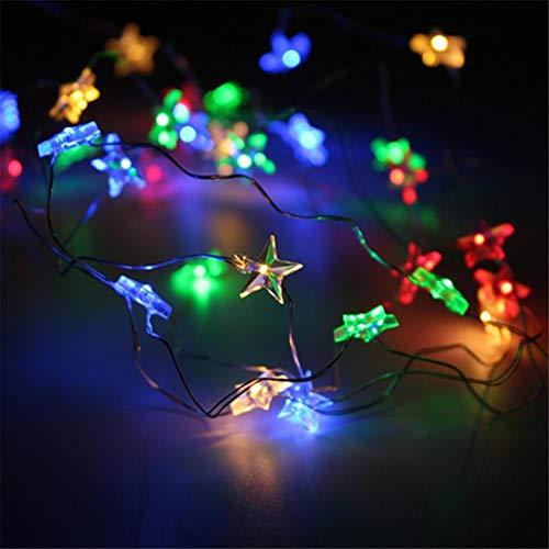 TAOtTAO Lamp Lamp string string Star Light Cosy String Lichterkette für Schlafzimmer Party mit 50 LED-Perlen (Mehrfarbig)