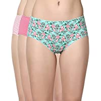 Enamor CR20 Stretch Cotton Hipster Panty - Mix of Pretty Prints and Solid Colors - Colors May Vary