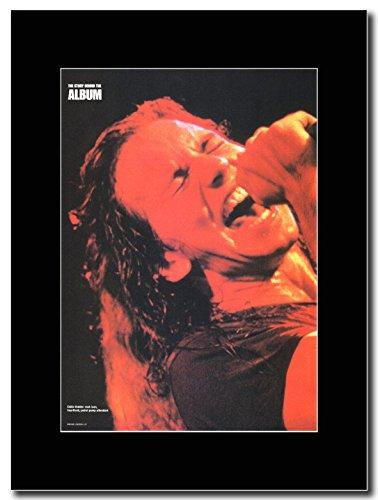 Pearl Jam - Eddie Vedder Rock Icon Magazine Promo on a Black (Pearl Jam Memorabilia)