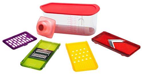 KUHN RIKON Box Mandolin & Grater Box Rojo - Rallador Rojo, De plástico, Acero Inoxidable, Horizontal...