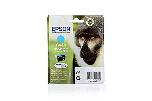 Original Tinte passend für Epson Stylus SX 410 Epson BT089240, T0892, T08924011 C13T08924010 C13T08924011 T089240 - Premium Drucker-Patrone - Cyan - 3,5 ml (Epson-410 Drucker-tinten-patronen)