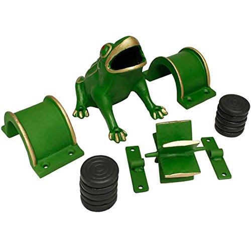 Elementos juego de la rana, popular, tradicional, autoctono, regional, hierro fundido, molino, molinillo, puente, tejos