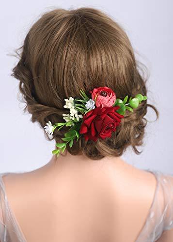 Deniferymakeup Haarspange mit Rosen und Blumen, Flamenco-Tänzerin, Haarschmuck