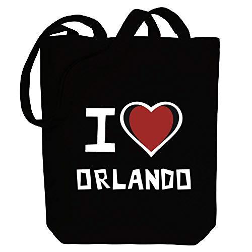 Idakoos I Love Orlando Bicolor Heart Einkaufstaschen 10.5