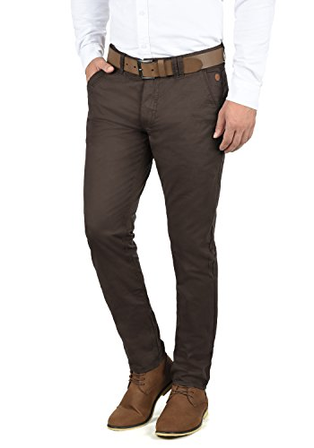 Blend Tromp Herren Chino Hose Stoffhose Aus 100% Baumwolle Regular Fit, Größe:W38/32, Farbe:Coffee Brown (71507)