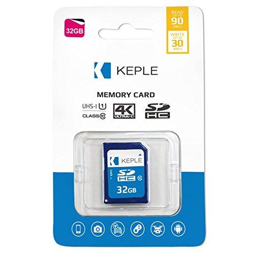 Keple 32GB SD Speicherkarte SD Karte für Nikon Coolpix L26, L810, L610, L820, L28 SLR Digitalkameras | 32 GB Speicherklasse 10 UHS-1 U1 SDXC-Karte für HD-Videos und Fotos