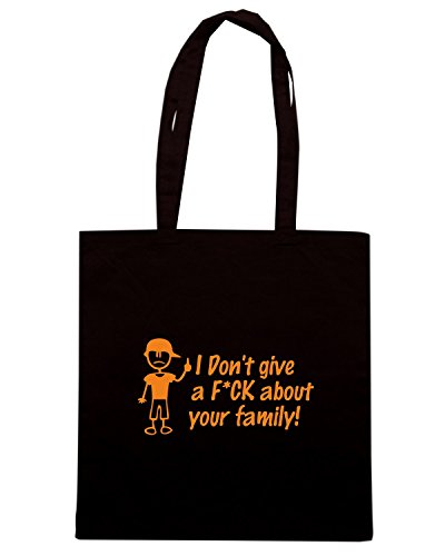 T-Shirtshock - Borsa Shopping FUN0607 anti stick family die cut decal 06 15622 Nero