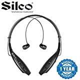 Silco Bluetooth Headphones Retractable Earbuds Neckband Wireless Sport Sweatproof Headset with Mic