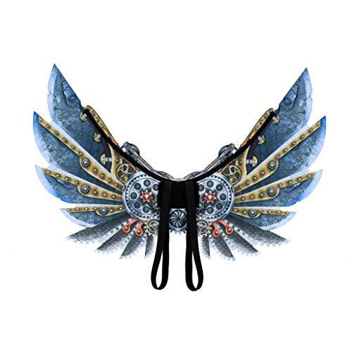 Kostüm Isis Lustig - Chejarity Isis Wings Gothic Punk Cosplay Kostüm Tanz Requisiten Zubehör Junge Lustige Halloween Weihnachten Dekoration Spielzeug Erwachsene Kinder Dress Up Faschingkostüme Wings (S, Blau)