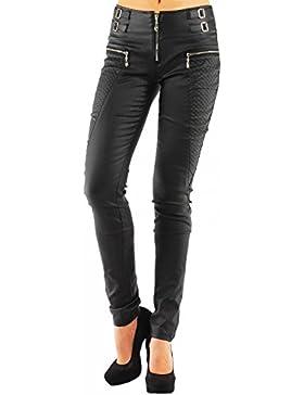 Danaest - Pantalón para mujer ajustado de cuero sintético, estilo tubo, nº 245