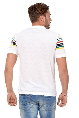 ... M.Conte Herren Poloshirt Polohemd T-Shirt Polo Weiss Blau S M L XL Rot  Kurzarm ...