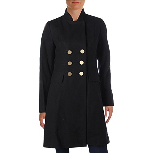 T Tahari Womens Hazel Double Breasted Wool Military Coat
