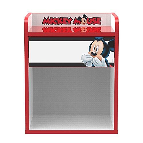 Stor Table de chevet d'enfant | MICKEY MOUSE STRIPES | MEUBLES DISNEY - Dimensions: 40cm x 50,5cm x 30cm - Plusieurs personnages