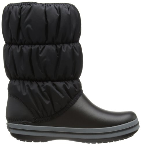 Crocs Winter Puff Boot Women, Boots femme Noir (Black/Charcoal)