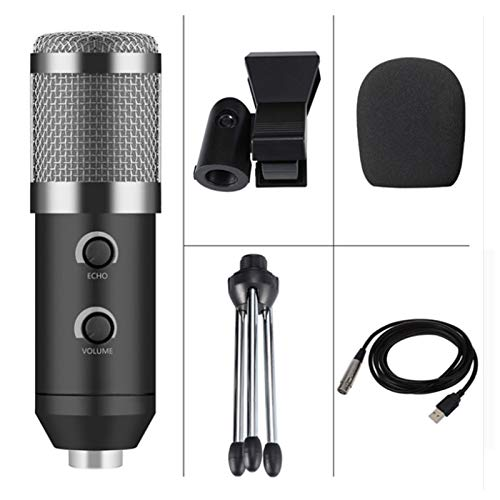 TOOGOO Bm 900 USB Mikrofon für Computer Kondensator Studio Karaoke Mikrofon,Silber
