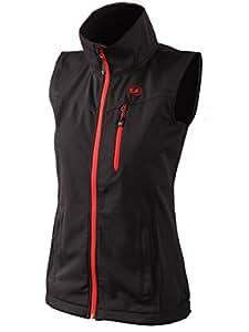 Ultrasport Damen Softshell Weste Athina, Black Red, XS, 110106