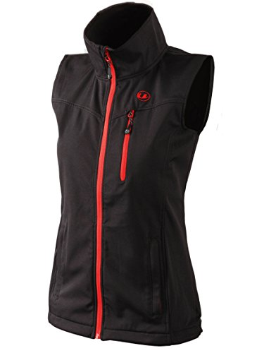 Ultrasport Athina Softshell Weste Gilet per Donna, Black/Red, S