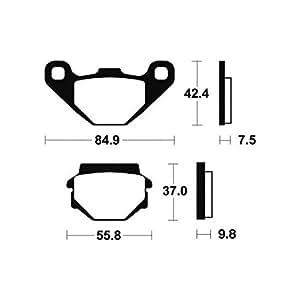 Plaquettes de frein bendix mo46 métal fritté - Bendix 380464