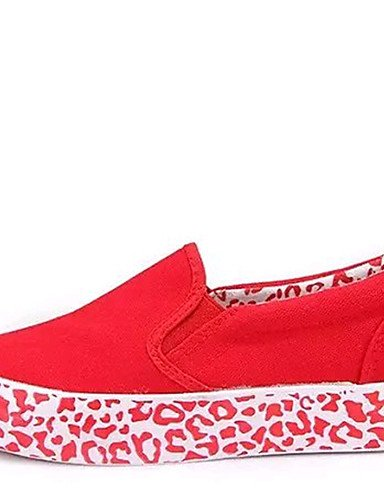 ZQ Scarpe Donna-Mocassini-Tempo libero / Ufficio e lavoro / Casual / Sportivo / Scarpe comode-Creepers / Comoda-Plateau-Di corda-Nero / , red-us8.5 / eu39 / uk6.5 / cn40 , red-us8.5 / eu39 / uk6.5 / c black-us7.5 / eu38 / uk5.5 / cn38
