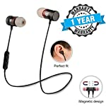 TechSky Magnet Wireless Stereo Earphones Bluetooth V4.1 with Mic Noise Cancelling Headsets Sweatproof Sports Running...
