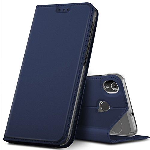 GeeMai Gigaset GS185 Hülle, Premium Gigaset GS185 Leder Hülle Flip Case Tasche Cover Hüllen mit Magnetverschluss [Standfunktion] Schutzhülle handyhüllen für Gigaset GS185 Smartphone, Blau