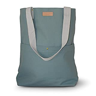 Aspegren Tasche Shopper Mano Bag Jade Canvas 100% Baumwolle