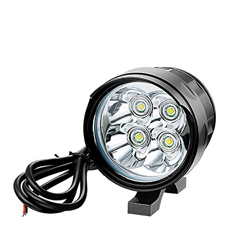 Aione Motorrad LED Scheinwerfer Strobe Flashing Universal Super Helle Weißes Licht IPX5 wasserdichte Super Helle Frontleuchte 5 Modi für Nacht Radfahren Sicherheit