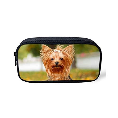 Schultasche, Cute Yorkshire Terrier Pattern Women Large Backpack 3D Cute Dog Children Shoulder Bags 3PCS/Set Moshilas Schoolbags H11510K -