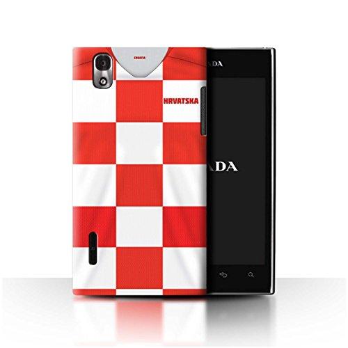Stuff4® Hülle/Case für LG Prada 3.0/K2/P940 / Kroatien/Kroatisch Muster/Weltmeisterschaft 2018 Fußball Trikot Kollektion -