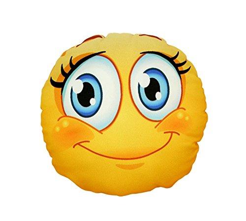 12-zoll-kissen (Digital gedruckte Smiley Mädchen Cuddle Kissen 12 Zoll 100% Polyester Reversible Entwurf, weiche Faser Füllung)