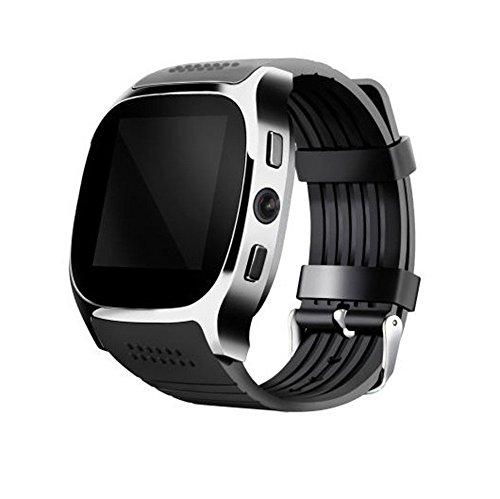 BZLine Bluetooth Smartwatch, Smart Watch Uhr Intelligente Armbanduhr Fitness Tracker Armband Sport Uhr mit Herzfrequenz Aktivität Schrittzähler Musiksteuerung für Kinder Frauen Männer (Schwarz)