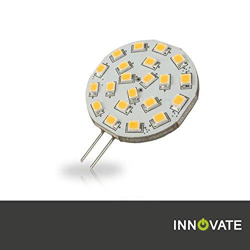 INNOVATE G4 LED Stiftsockel-Lampe Leuchtmittel 21SMD / 3W - ersetz 15-20W Glühlampe, warmweiss - 3000K, Pin seitlich, 310 Lumen, 120° Abstrahlwinkel Led-platine