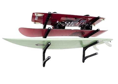 Joli support présentoir mural-Quad pour les planches de surf et plus