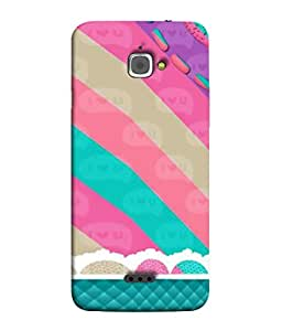 PrintVisa Designer Back Case Cover for InFocus M350 (Love Strip Candy Colourful Fabric )