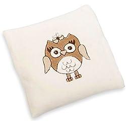 GRÜNSPECHT - Cuscino riscaldabile bio per bebè, fantasia: civetta, colore: Beige
