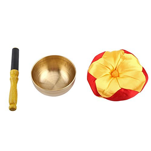 (Tibetischen Buddhismus Meditation Yoga Messing Klangschale Stick mit Kissen Craft)