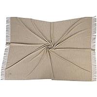 100% ECO KASCHMIR (Ungefärbt) gewebte decke 140 x 190 cm + Fransen