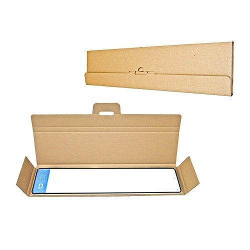 Preisvergleich Produktbild 60 x Versandtasche Faltschachtel für Kfz-Kennzeichen Schilder 536x126x14 mm